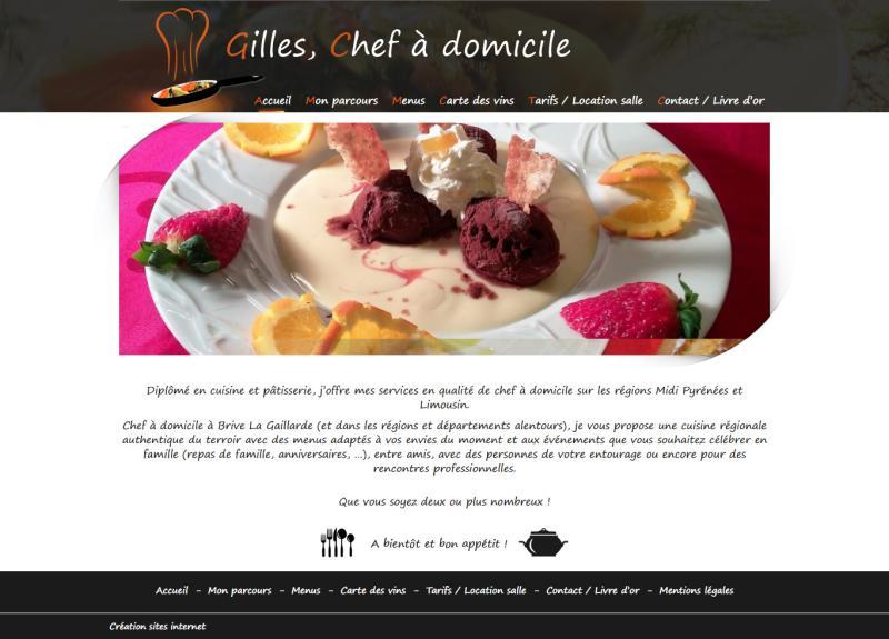 Gilles, chef à domicile